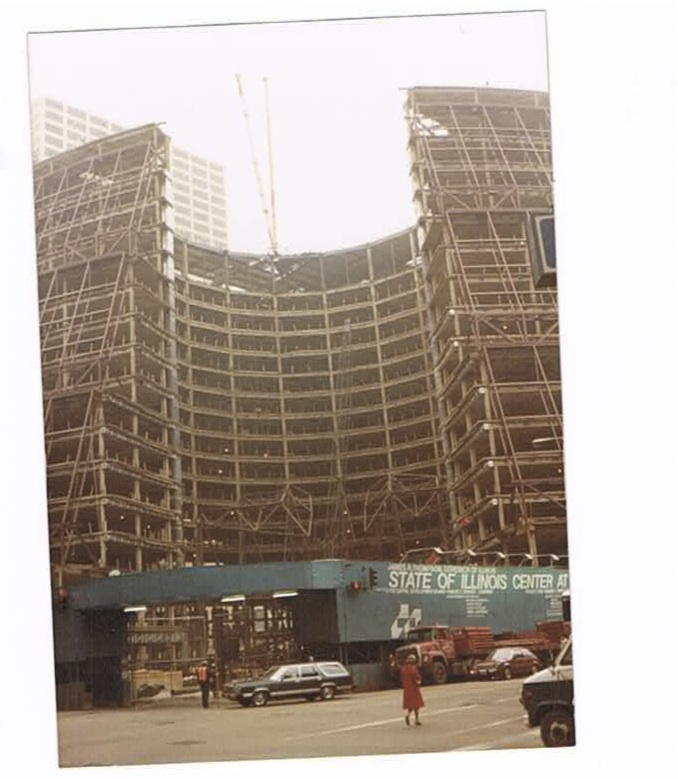State of Illinois Center Under Construction