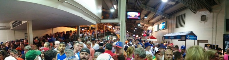 panoramic Wrigley indoors