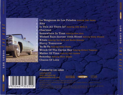 Los Lobos - CD cover - The Ride_back